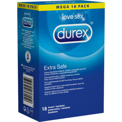 Preservativi resistenti Durex Extra Safe 18 pezzi