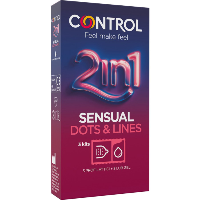 Control 2in1 Sensual Dots&Lines - kit 3+3