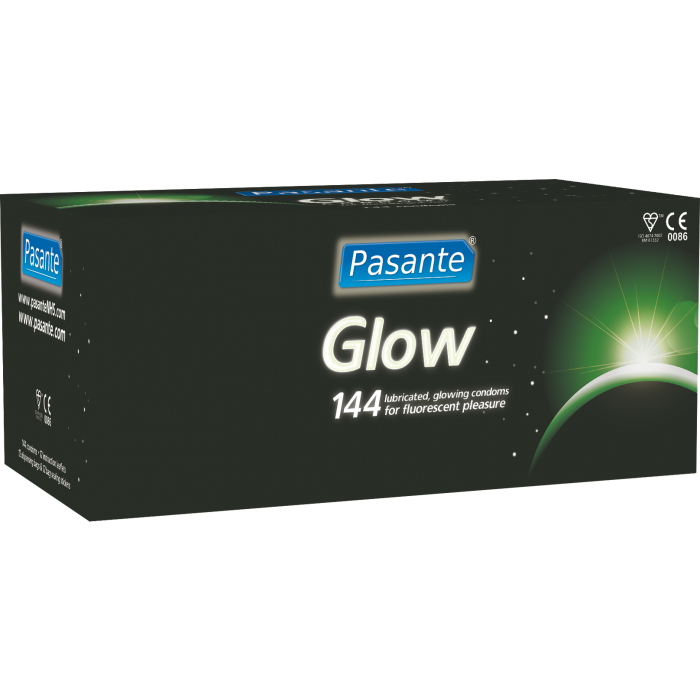 Pasante Glow in the dark - preservativi fluorescenti 144 pezzi