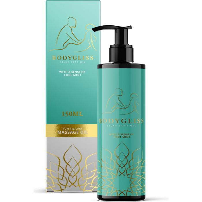 Olio da massaggio al silicone Bodygliss Silky Soft Oil Cool Mint - 150ml