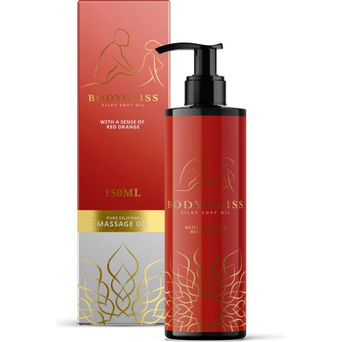 Olio da massaggio al silicone Bodygliss Silky Soft Oil Red Orange - 150ml