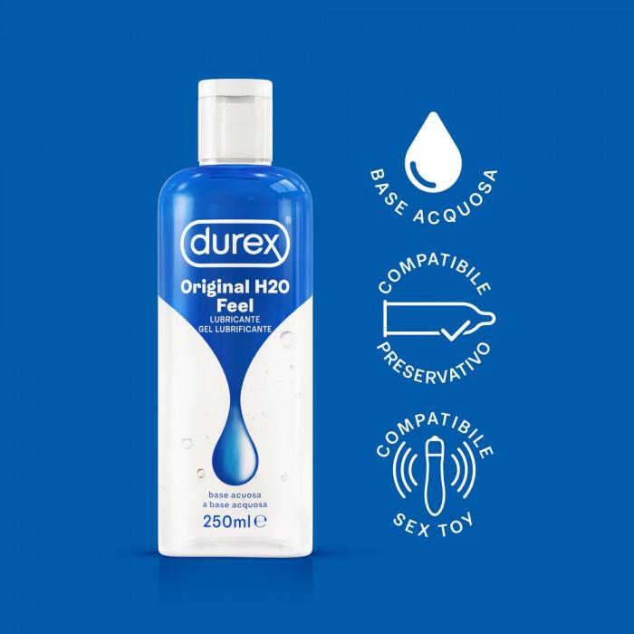 Durex Feel Original H2O - 250ml Lubrificante a Base Acquosa